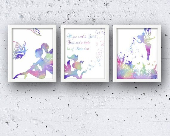 Gorgeous! Fairy printable wall art for a little girls room!