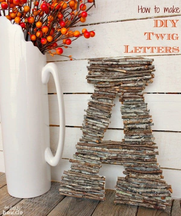 Cute Twig Letter for Fall Decorating