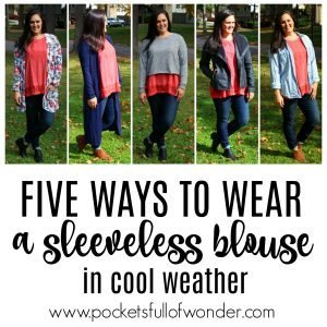 5 Ways to Wear a Sleeveless Blouse in Fall and Winter