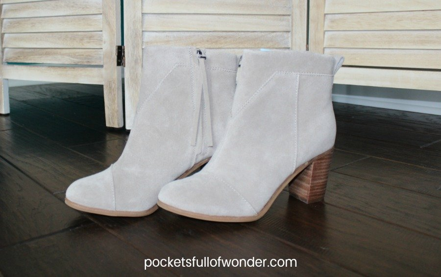 These are the cute TOMS ankle booties that came in my Stitch Fix box!