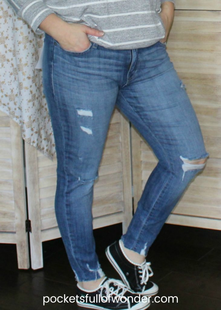 Jeans by Pistola Denim from my February Stitch Fix box.