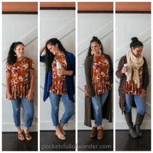 A Basic Outfit to Wear All Year: Floral Top + Cropped Jeans