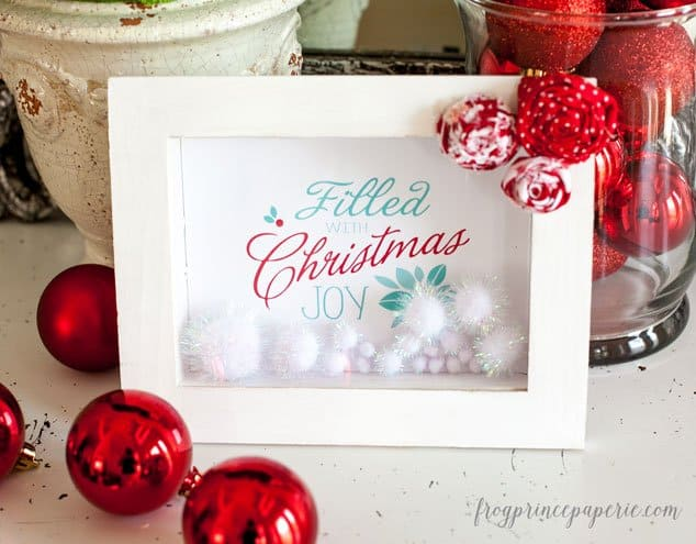 Easy and Affordable Last Minute Christmas Decor: Shadow Box Frame