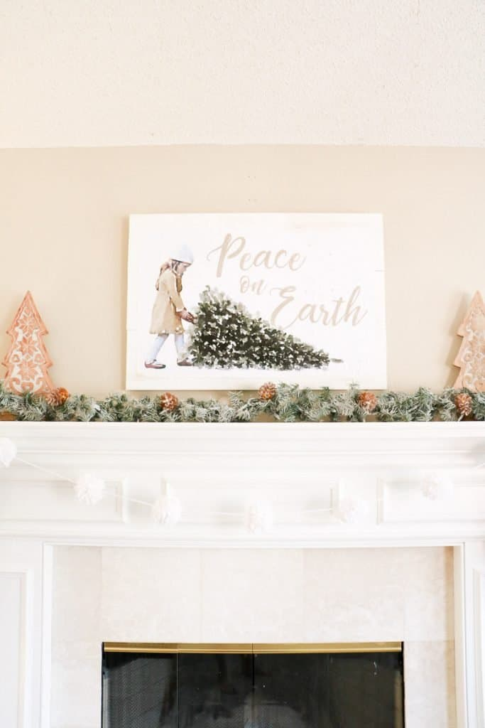 Easy and Affordable Last Minute Christmas Decor: Peace on Earth Printable