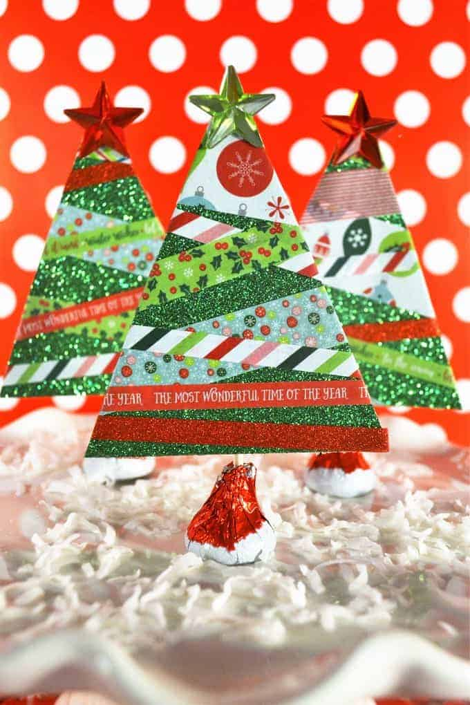 Easy and Affordable Last Minute Christmas Decor: Mini Christmas Trees with Washi Tape