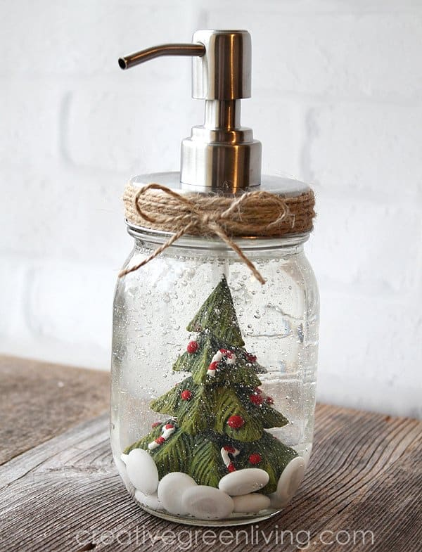 Easy and Affordable Last Minute Christmas Decor: Soap Pump
