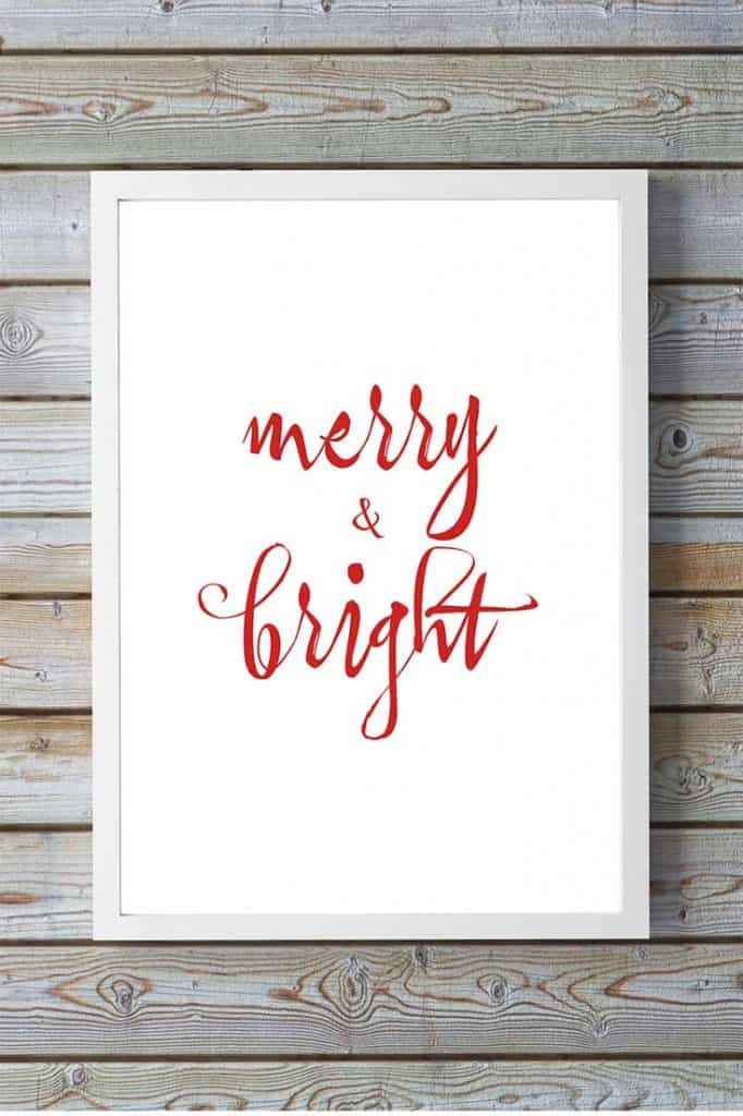 Free Christmas Printable Artwork