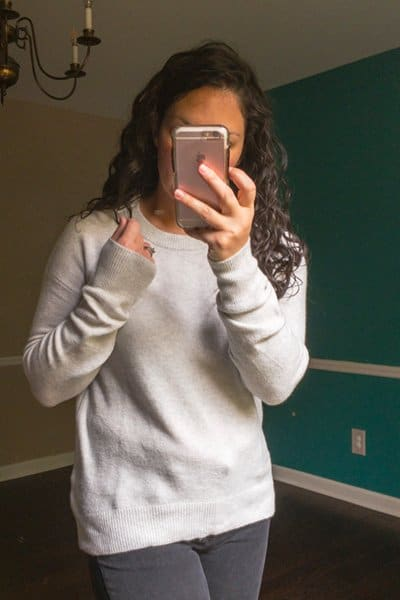 October Trunk Club Review - Soft Wool Gray Crew Neck Sweater