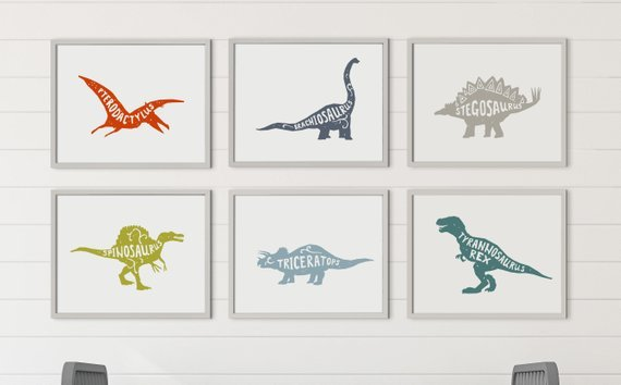 So cool! Dinosaurs with names free printable wall art