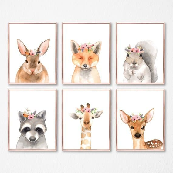 Gorgeous! Boho animal printable wall art