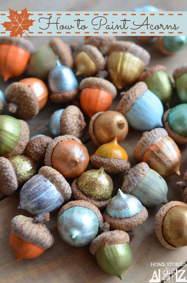Painted Acorns for Fun and Crafty Fall Decorating