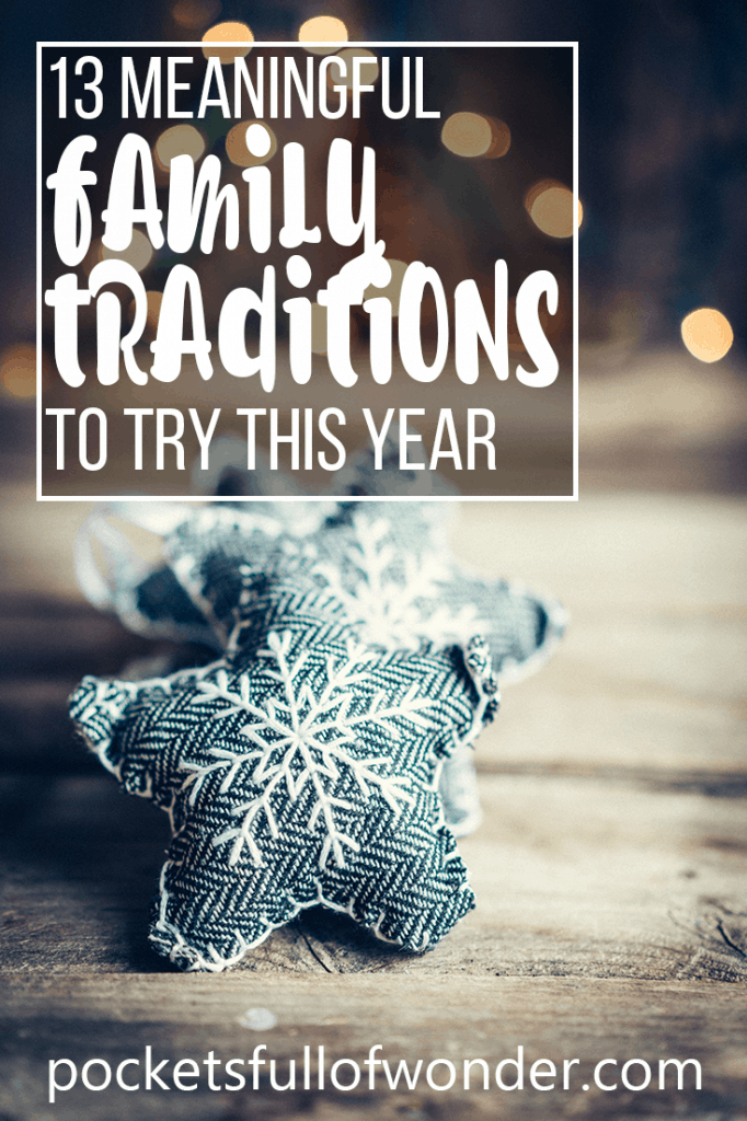 I love holiday traditions! Here are some good ones to do throughout the whole holiday season!