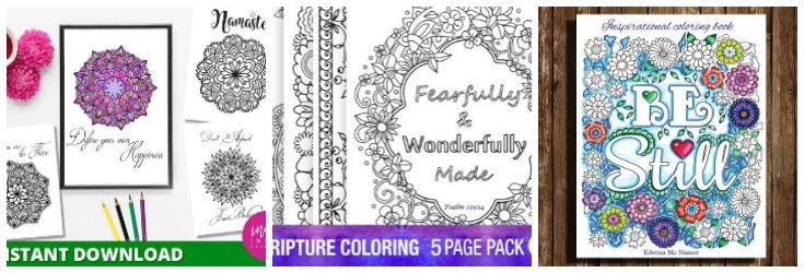 Printable Inspirational Adult Coloring Sheets