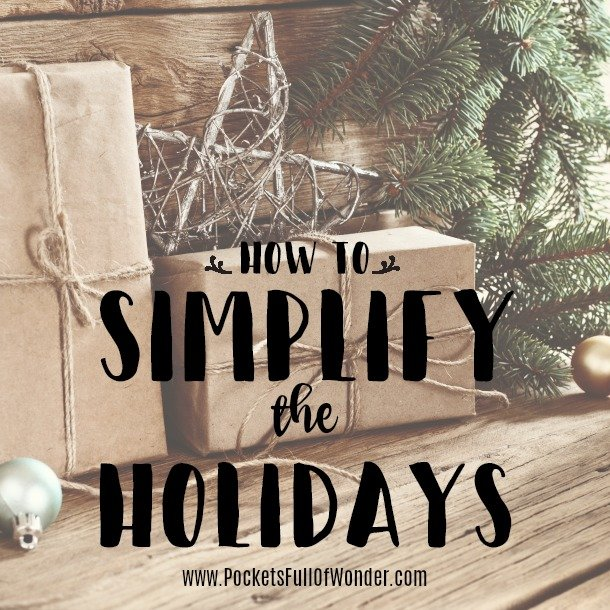 how to simplify the holidays