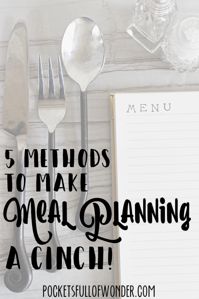 Meal planning has always been a struggle. But this I can do!