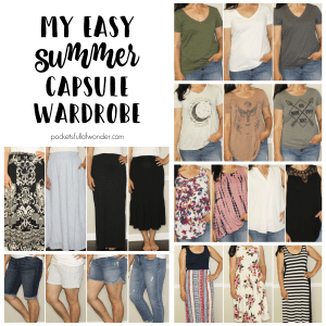 33 piece Summer Capsule Wardrobe Collage