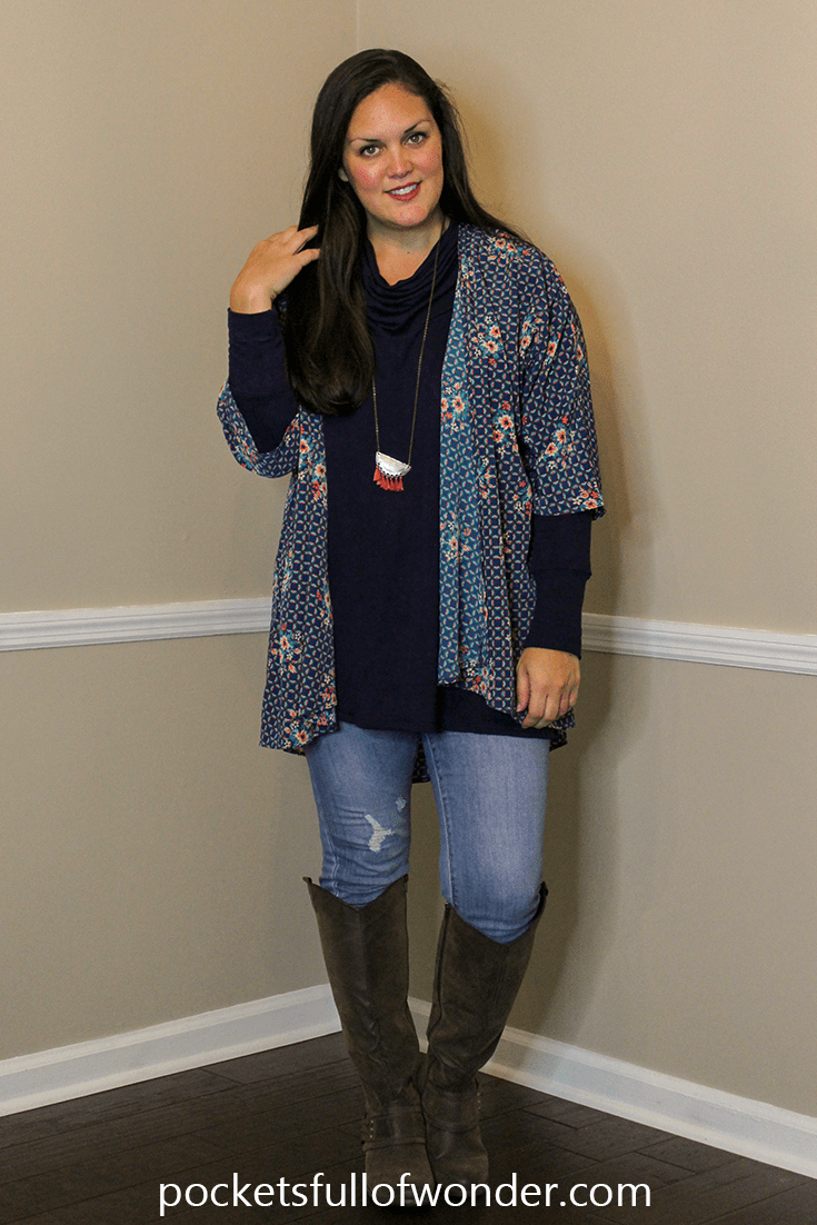Cold Weather Look | How to Style a Kimono for Cold Weather