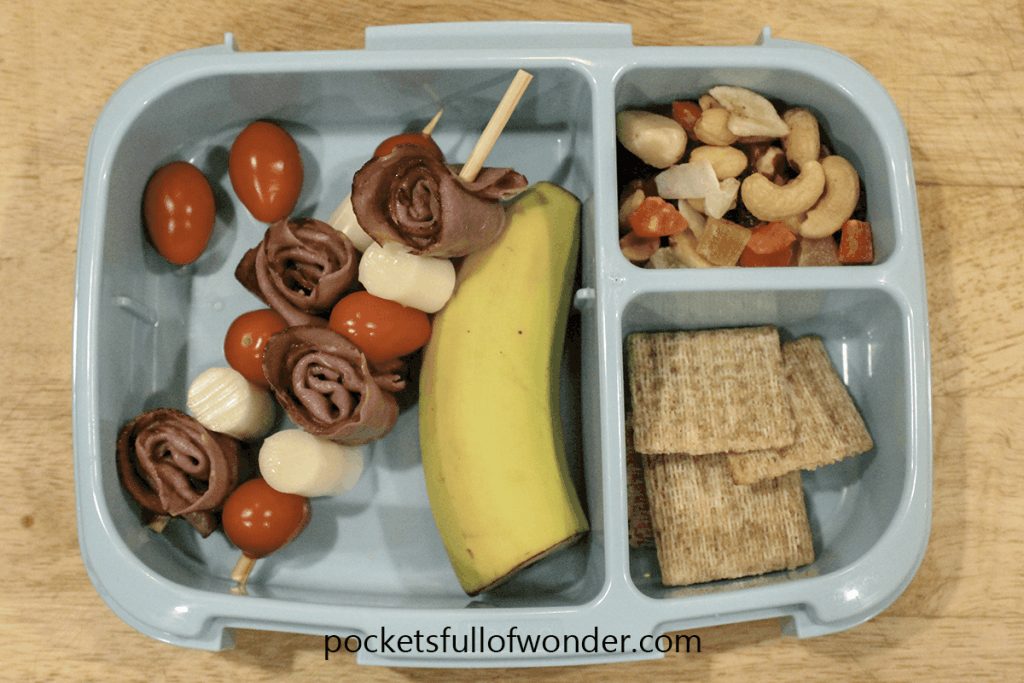 Make school lunches fun with easy kebabs lunch meat and cheese skewers!
