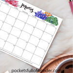 Free Printable 2019 Monthly Calendar