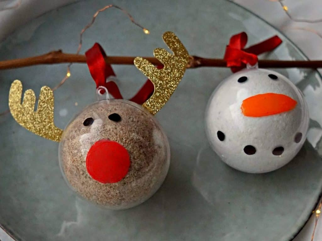 Easy and Affordable Last Minute Christmas Decor: Bath Bomb Ornaments