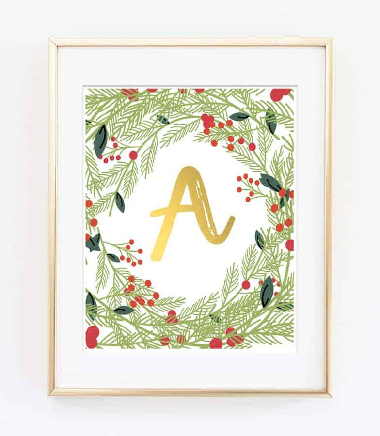 Easy and Affordable Last Minute Christmas Decor: Letter Printable