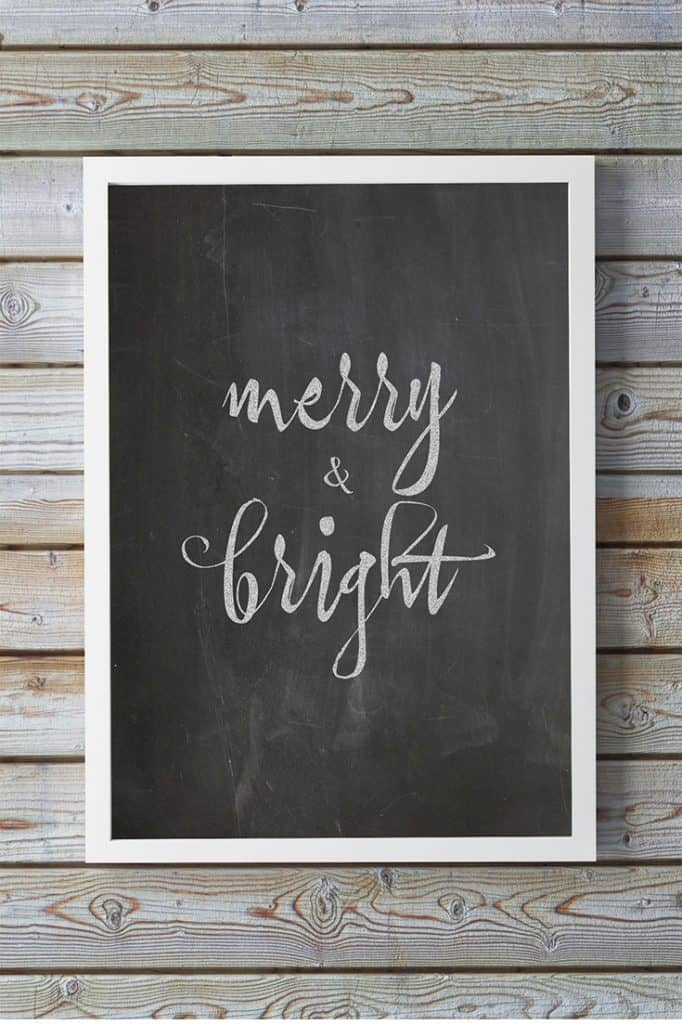 Easy and Affordable Last Minute Christmas Decor: Chalkboard Printable