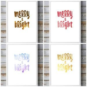 FREE!  Cute Merry & Bright Christmas Printable Artwork