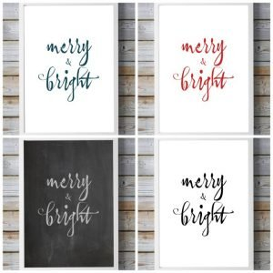 FREE! Modern Merry & Bright Christmas Printable