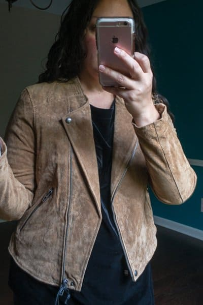 October Trunk Club Review - Brown Suede Moto Jacket