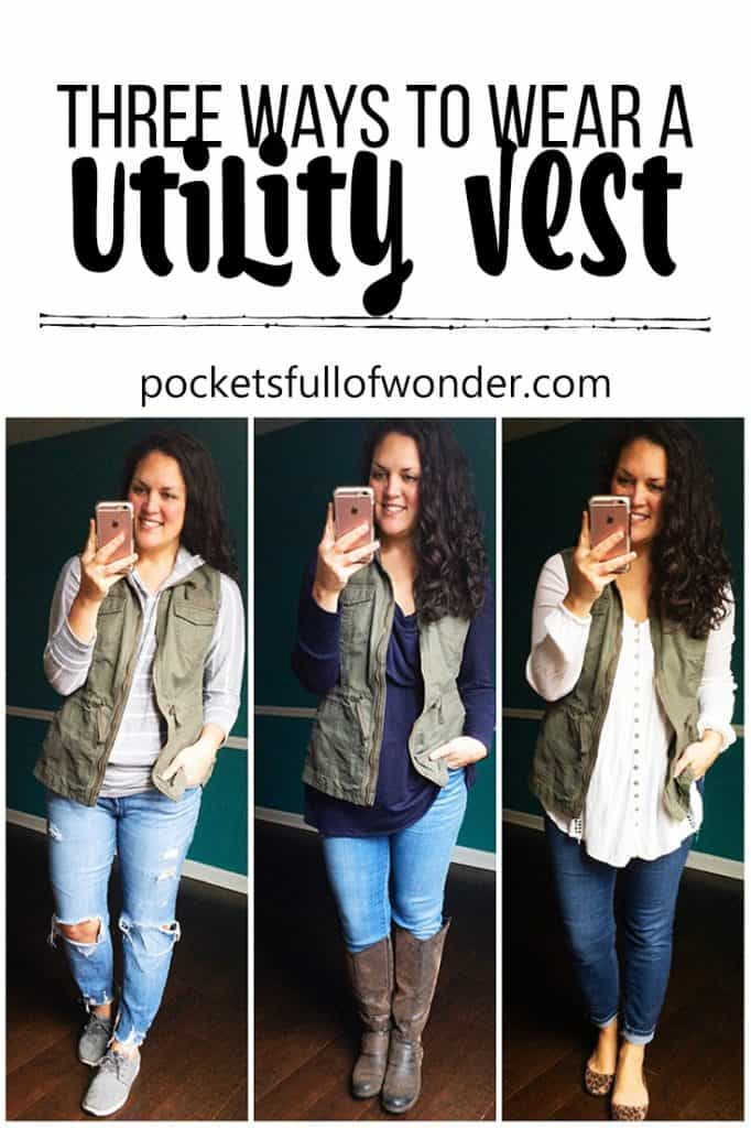 Three Ways to Wear a Utility Vest #outfitideas #womensfashion #casualoutfits #momstyle