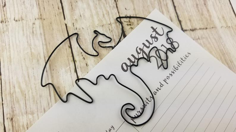 Mythical Creature Dragon Paperclip Bookmark