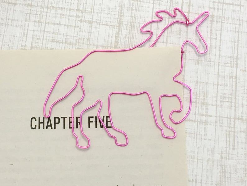 Mythical Creature Unicorn Bookmark Paperclip